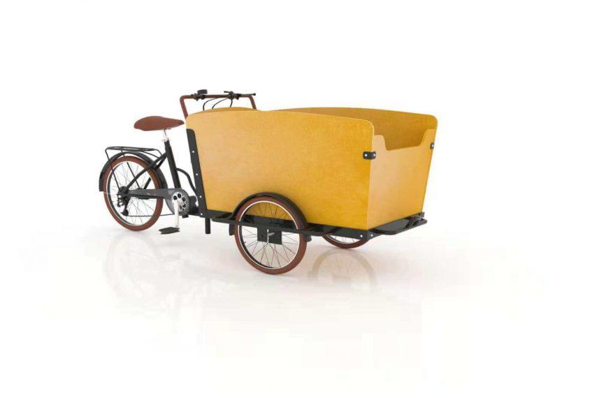 Three Wheel Family Cargo Bike Trike With Steel Frame