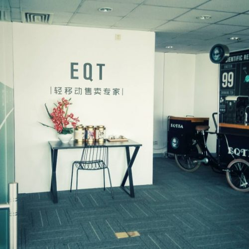 EQT Electric Mobile Cafe Bike For Outdoor Business Plan